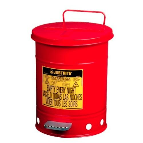 Avfallsbehållare 20 lit, Brandsäker, med fotpedal