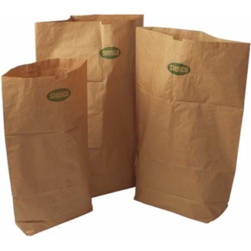 Papperssäck, brun, 125L, 60g/m2