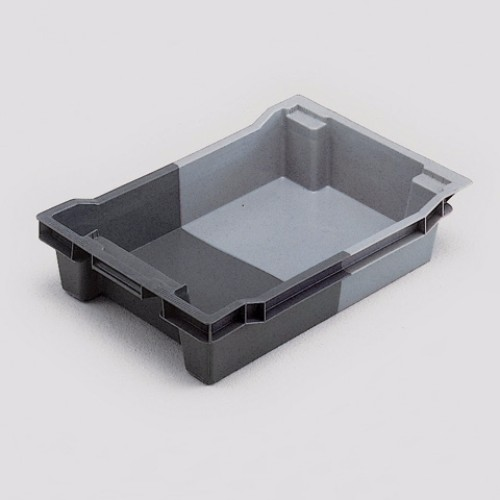 Plastlåda tät, Grå 18L