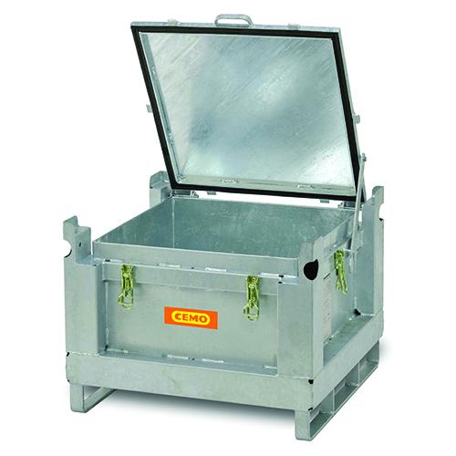 Förvaringsbehållare stål för batterier, 120 L