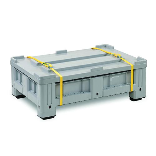 Förvarings- och transportbehållare PE för batterier, 195 L