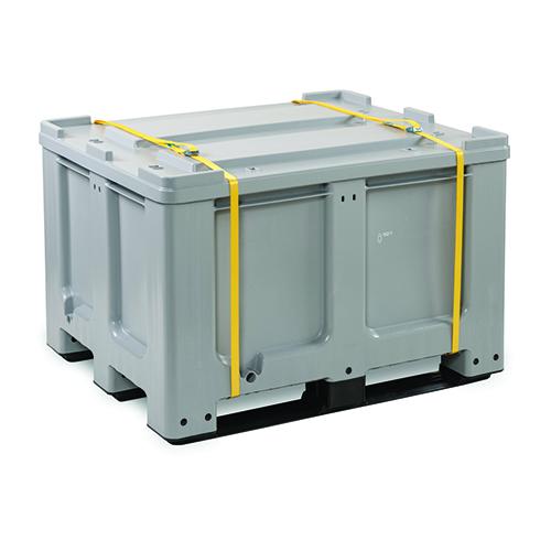 Förvarings- och transportbehållare PE för batterier, 610 L