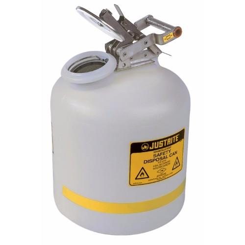 Avfallsbehållare PE för frätande vätskor, rund, 19L