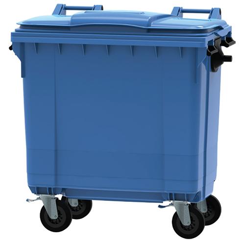 Mega avfallsbehållare PE, 770 l, Blå