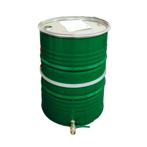 Stålbehållare 200 L, med bottenavtappning