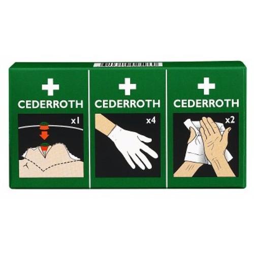 Skyddspaket med handskar, andningsmask mm