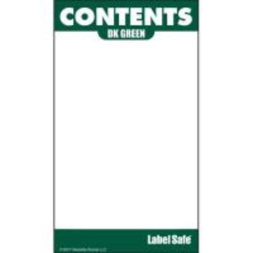 Etikett för utomhusbruk, mörkgrön