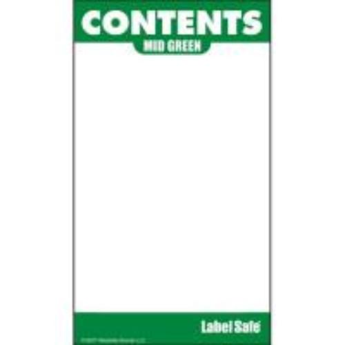 Etikett för utomhusbruk, grön