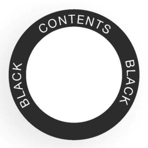 Etikett för utomhusbruk, rund, svart