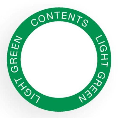 Etikett för utomhusbruk, rund, grön