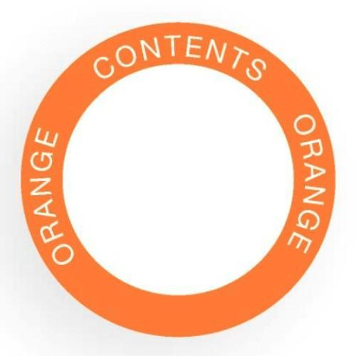 Etikett för utomhusbruk, rund, orange