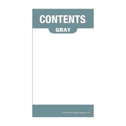 Självhäftande etikett, grå
