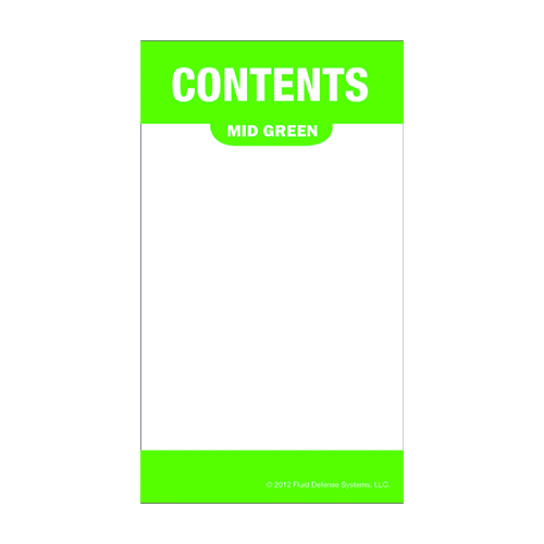Självhäftande etikett, grön