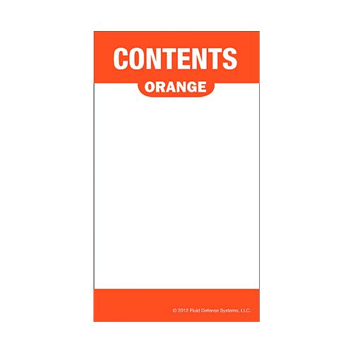Självhäftande etikett, orange