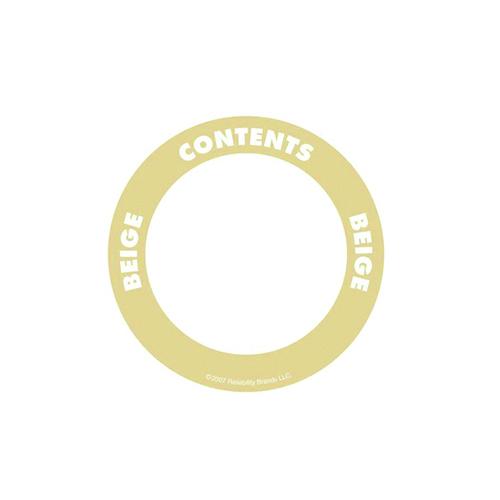 Självhäftande etikett, rund, beige