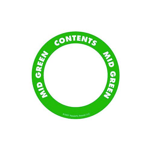 Självhäftande etikett, rund, grön
