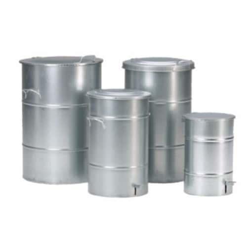 Avfallsbehållare 30 l galvad, med fotpedal
