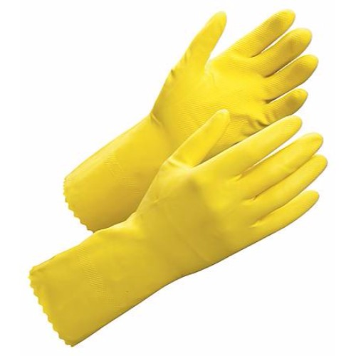 Latexhandske, flockad Worksafe Clean 50-602, strl 10
