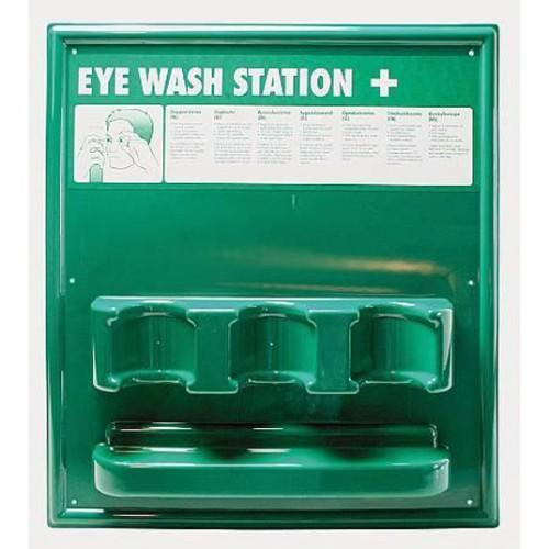 Väggställ för 3 ögonduschflaskor