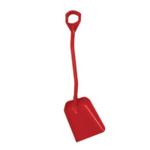Snöskyffel kort handtag, 115 cm, Röd