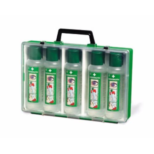 Ögondusch i bärbar väska, 5x500 ml