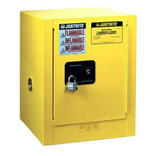 Säkerhetsskåp för brandfarliga ämnen Manuell