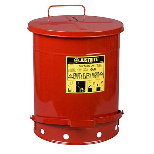 Avfallsbehållare 52 lit, Brandsäker, med fotpedal