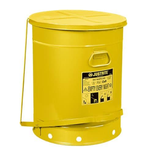 Avfallsbehållare 80 lit, Brandsäker, med fotpedal