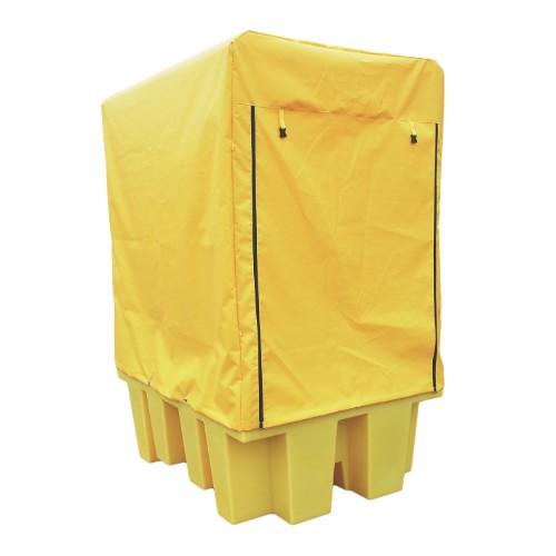 Miljöpall IBC enkel, PE galler, inkl regn/vindskydd