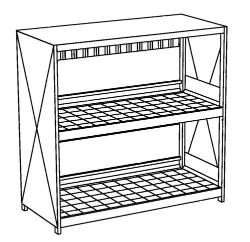 Miljöcontainer WSC-F-E.2-27  Pardörrar