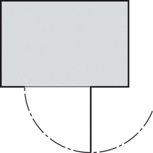 Material Container SC3000 3x2 LE, enkeldörr