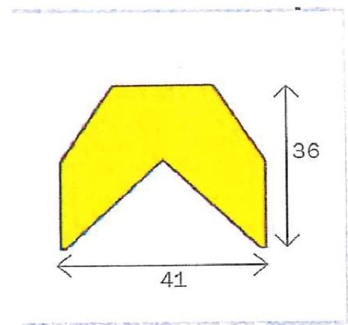 Varnings - skyddslist Typ AA, 1 Meter