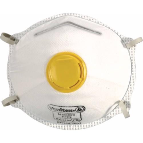 Korttidsmask FFP2 Formgjuten med ventil