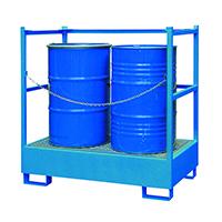 Miljödepå WSP-4STS för 4 fat, blå