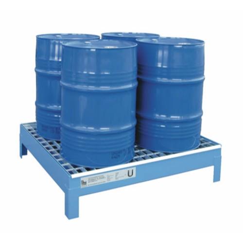 Miljöpall CW 4x60, blå, galvat galler