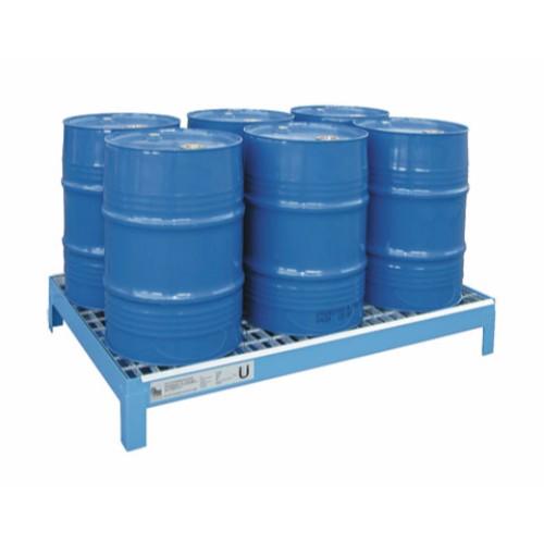 Miljöpall CW 6x60, blå, galvat galler