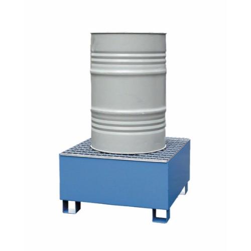 Miljöpall CW 1-fats, blå, galvat galler