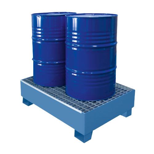 Miljöpall CW 2-fats, blå, galvat galler