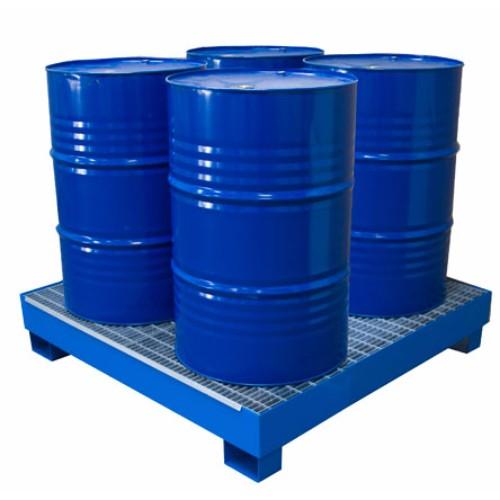 Miljöpall CW 4-fats, blå, galvat galler