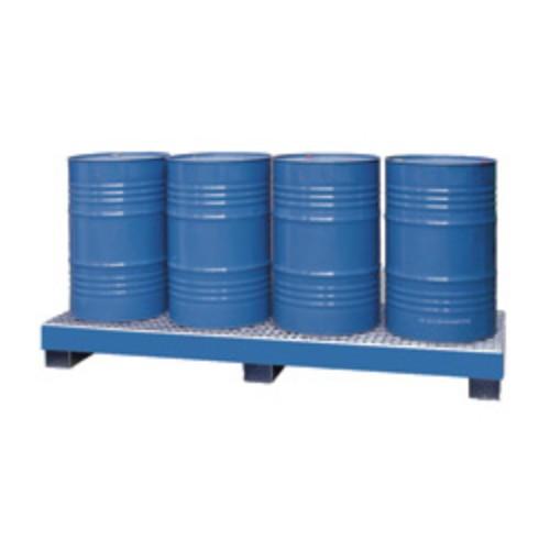 Miljöpall CW 4L-fats INLINE, blå, galvat galler