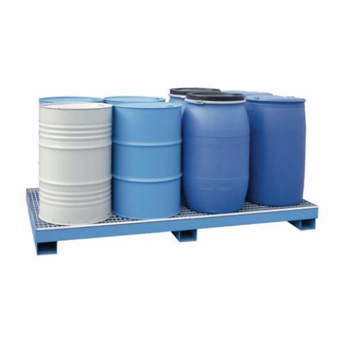 Miljöpall CW 8-fats, blå, galvat galler