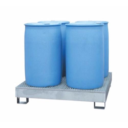 Miljöpall i Rostfritt stål med galvaniserat galler, 4-fats