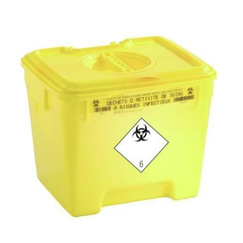 Riskavfallsbehållare, 30L, lock i lock