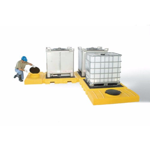 Spillpall för IBC, 3-tanksmodell av PE