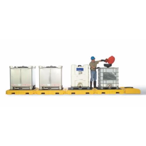 Spillpall för IBC, 4-tanksmodell av PE