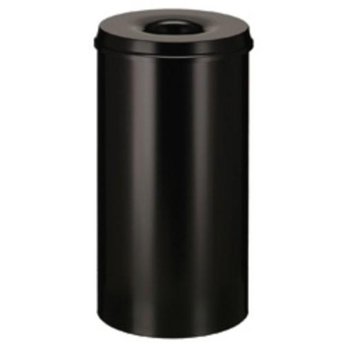 Brandsäker papperskorg, svart