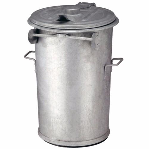 Avfallsbehållare i varmgalvaniserat stål, 110 l