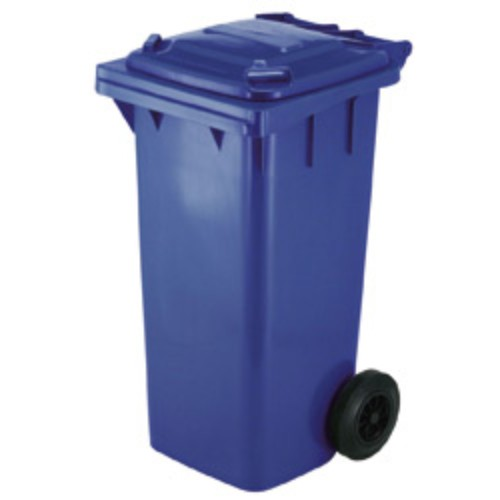 Avfallsbehållare 120 l, Blå