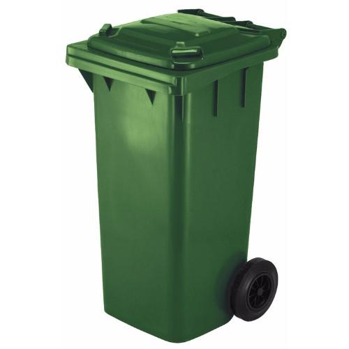Avfallsbehållare 120 l, Grön