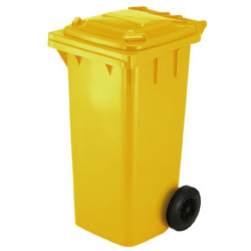 Avfallsbehållare 120 l, Gul